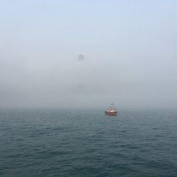 ある日、霧に包まれた香港の朝