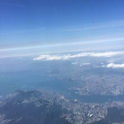 空から見る香港