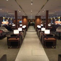 台湾桃園空港のキャセイラウンジ改装済